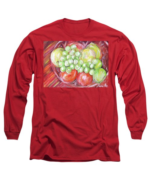 Still Life With Fruits. Harvest Time.painting  Long Sleeve T-Shirt