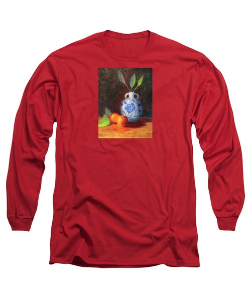 Still Life With Vase And Fruit Long Sleeve T-Shirt