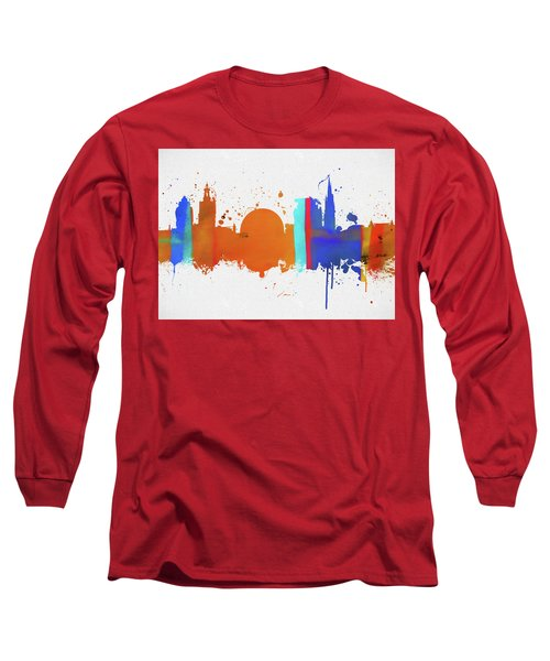 Stockholm Colorful Skyline Long Sleeve T-Shirt