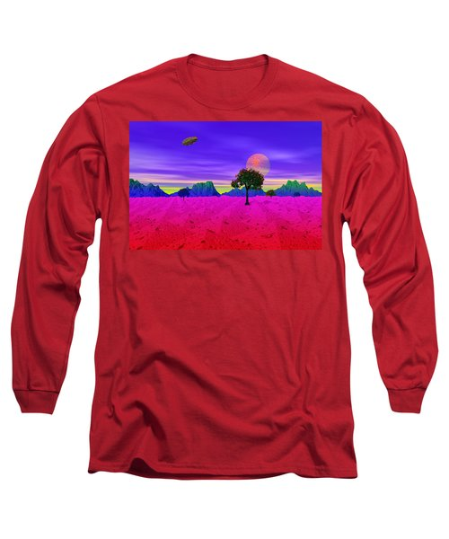 Strangely Place Long Sleeve T-Shirt by Mark Blauhoefer