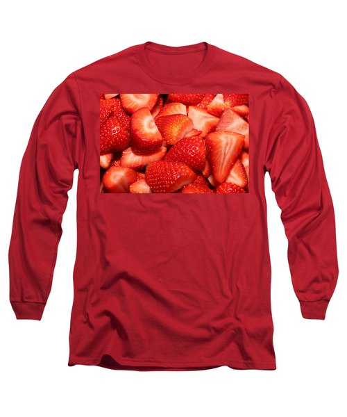 Strawberries 32 Long Sleeve T-Shirt by Michael Fryd