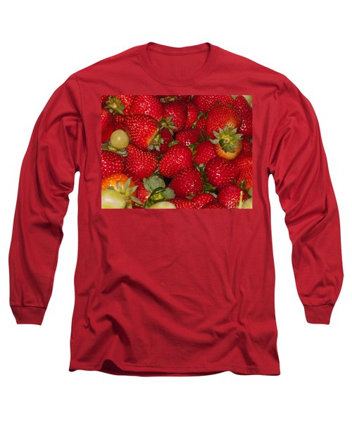 Strawberries 731 Long Sleeve T-Shirt by Michael Fryd
