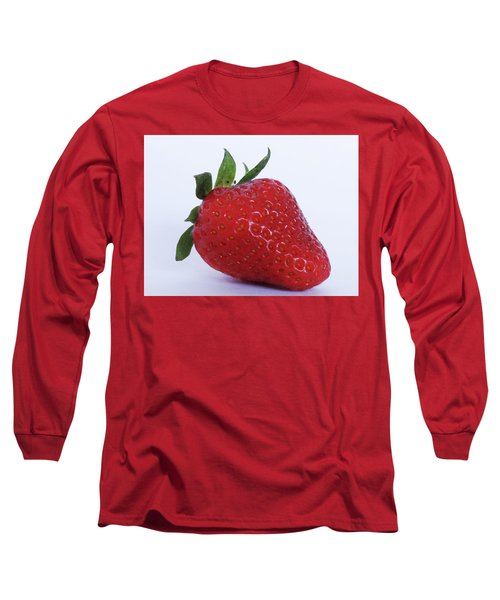 Strawberry Long Sleeve T-Shirt by Julia Wilcox