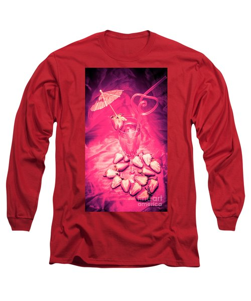 Strawberry Martini In Pink Light Long Sleeve T-Shirt
