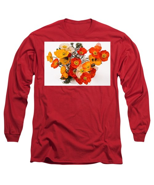 Stunning Vibrant Yellow Orange Poppies  Long Sleeve T-Shirt