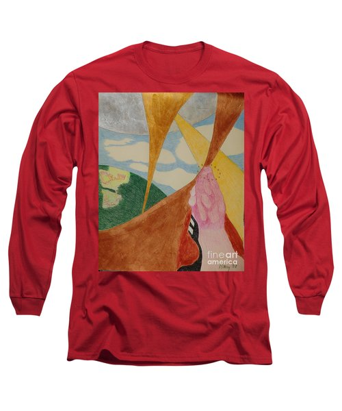 Long Sleeve T-Shirt featuring the drawing Subteranian  by Rod Ismay