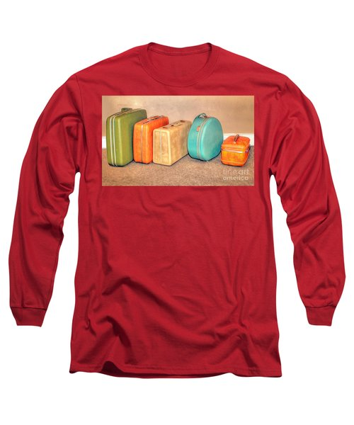 Suitcases Long Sleeve T-Shirt by Marion Johnson
