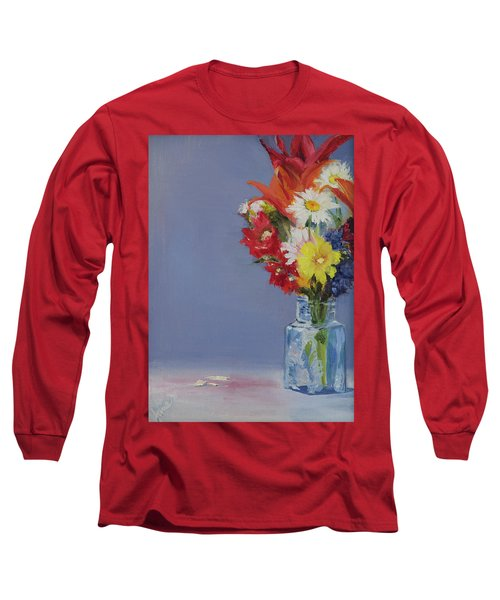 Long Sleeve T-Shirt featuring the painting Summer Bouquet by Jane Autry