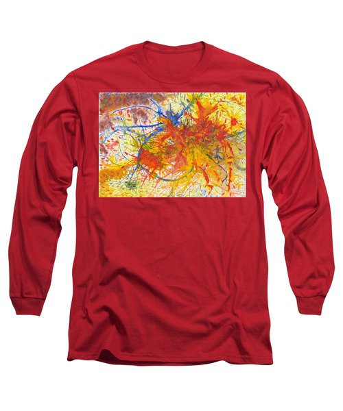 Summer Branches Alfame With Flower Acrylic/water Long Sleeve T-Shirt