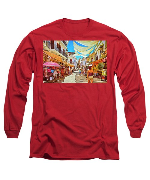 Long Sleeve T-Shirt featuring the photograph Summer In Malaga by Mary Machare