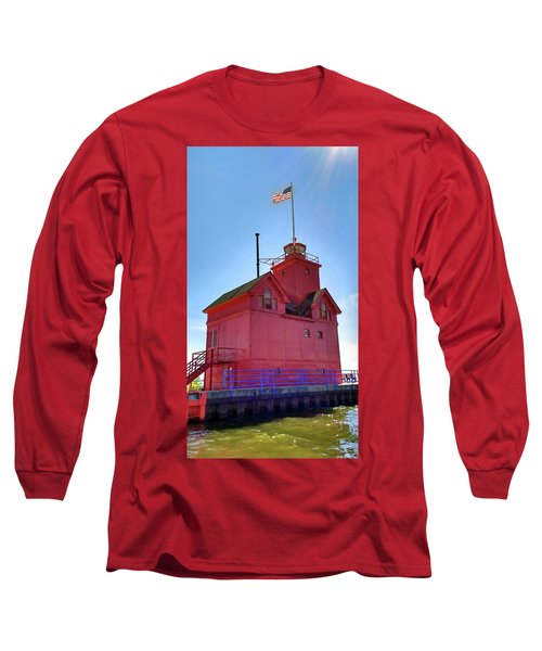 Long Sleeve T-Shirt featuring the photograph Summer Sun And Big Red by Michelle Calkins