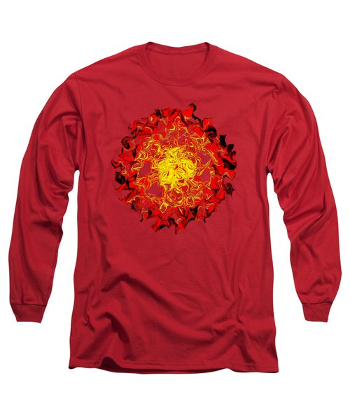 Sun Abstract Art By Kaye Menner Long Sleeve T-Shirt by Kaye Menner