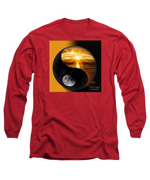 Sun And Moon - Yin And Yang Long Sleeve T-Shirt