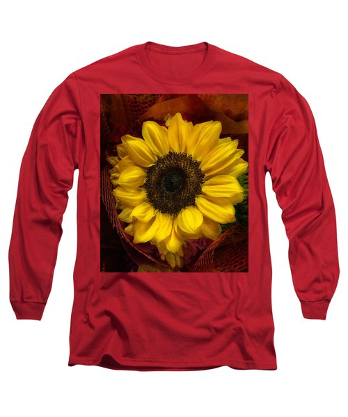 Sun In The Flower Long Sleeve T-Shirt by Arlene Carmel