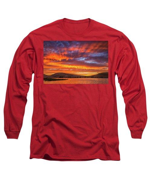 Sun Rays At Sunset Long Sleeve T-Shirt