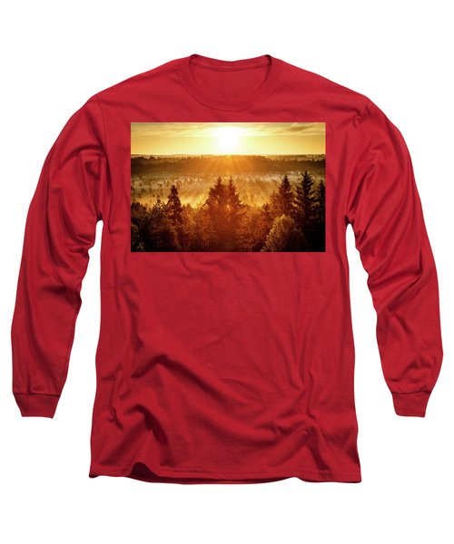 Sun Rising At Swamp Long Sleeve T-Shirt