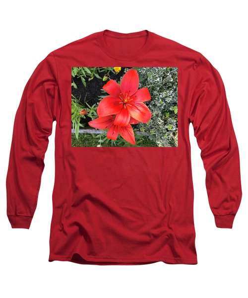 Sunbeam On Red Day Lily Long Sleeve T-Shirt