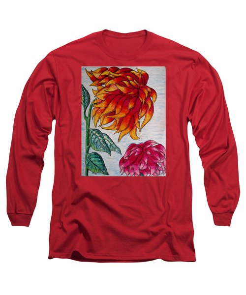 Sunburst And Peppermint Long Sleeve T-Shirt by Megan Walsh