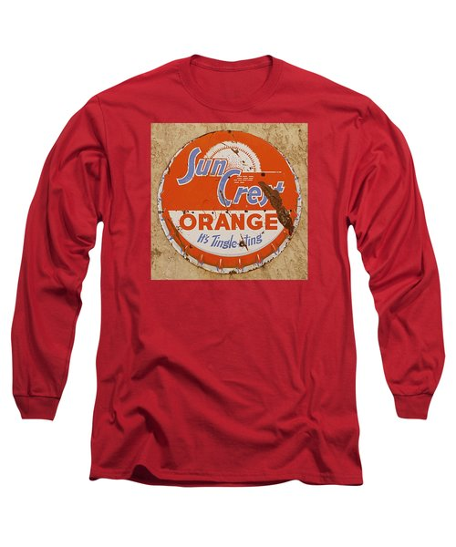 Suncrest Orange Soda Cap Sign Long Sleeve T-Shirt