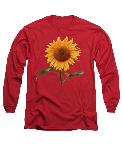 Sunflower And Red Sunset Long Sleeve T-Shirt