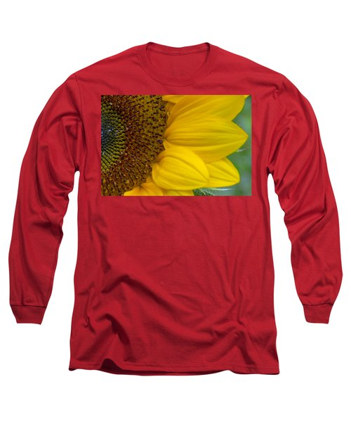 Sunflower Closeup Long Sleeve T-Shirt