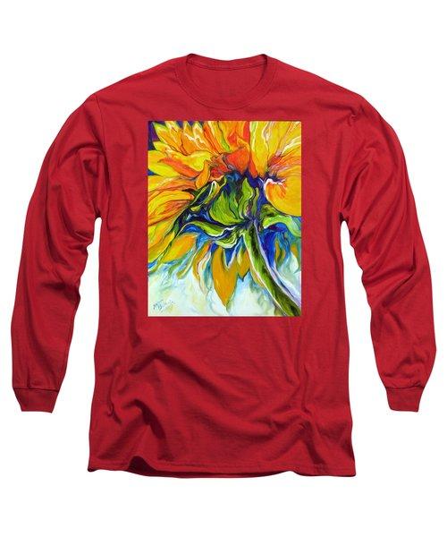 Sunflower Day Long Sleeve T-Shirt by Marcia Baldwin