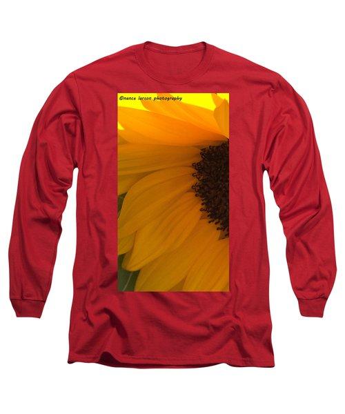 Sunflower Macro Long Sleeve T-Shirt by Nance Larson