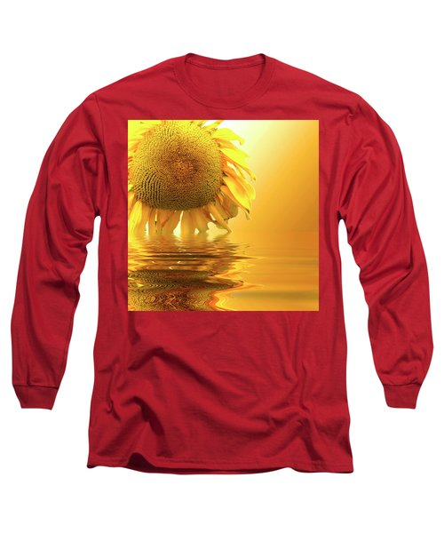 Sunflower Sunset Long Sleeve T-Shirt by David French