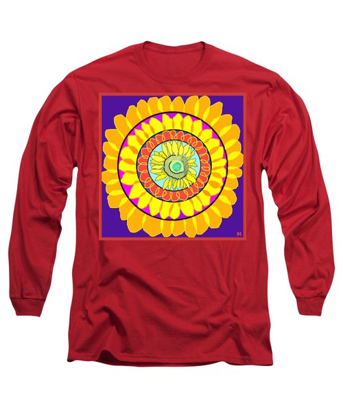 Sunflower Wheel Long Sleeve T-Shirt