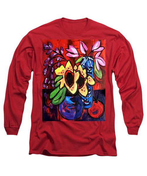 Sunflowers And Tulips Long Sleeve T-Shirt