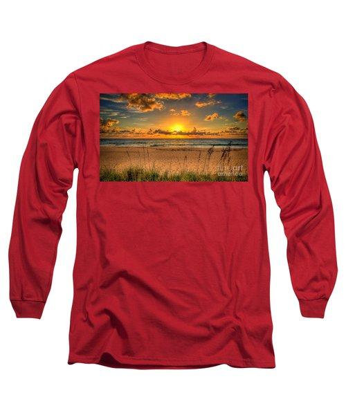 Sunny Beach To Warm Your Heart Long Sleeve T-Shirt by Rod Jellison