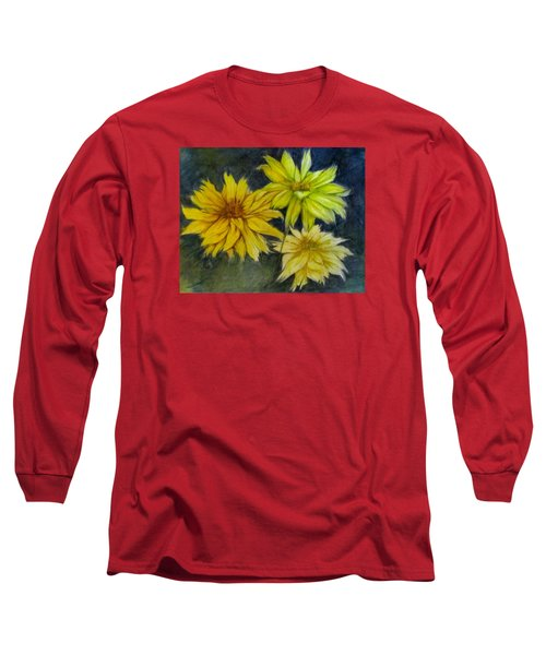 Sunny Yellow Long Sleeve T-Shirt by Barbara O'Toole