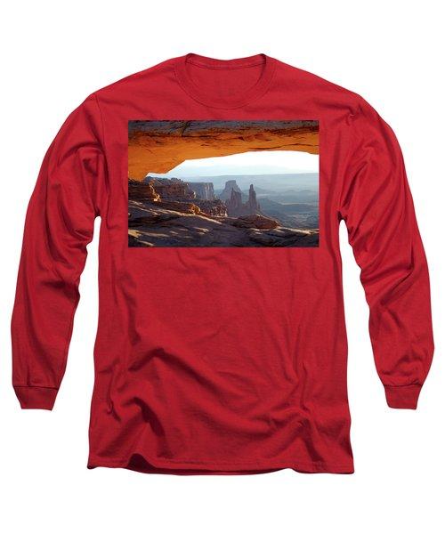 Sunrise At Mesa Arch Long Sleeve T-Shirt