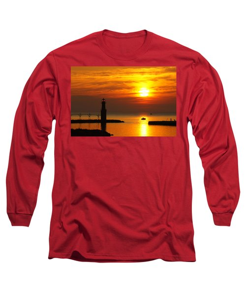 Sunrise Brushstrokes Long Sleeve T-Shirt