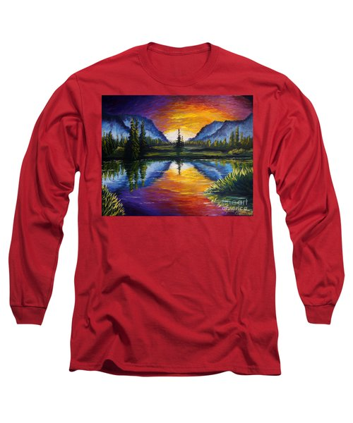 Sunrise Of Nord Long Sleeve T-Shirt by Ruanna Sion Shadd a'Dann'l Yoder
