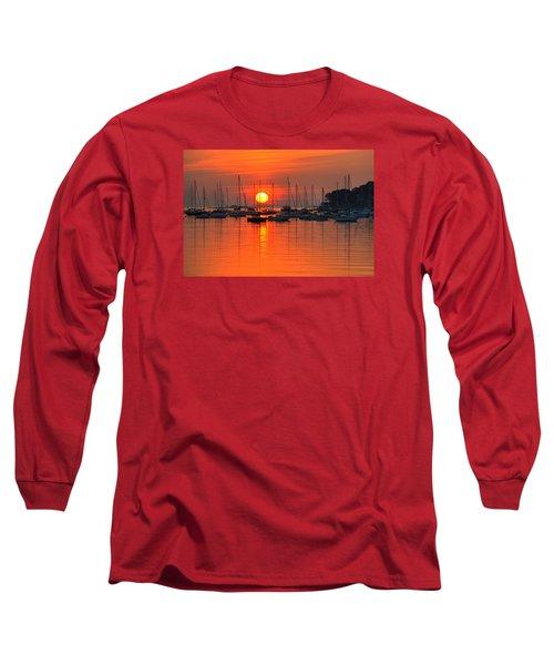Sunrise On Salem Harbor Salem Ma Long Sleeve T-Shirt