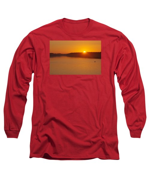 Long Sleeve T-Shirt featuring the photograph Sunrise On The Ferry by Greg Graham