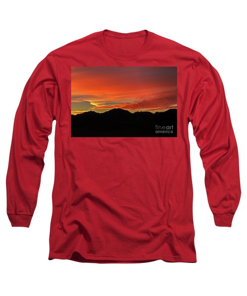 Long Sleeve T-Shirt featuring the photograph Sunrise Over Gila Mountains by Robert Bales