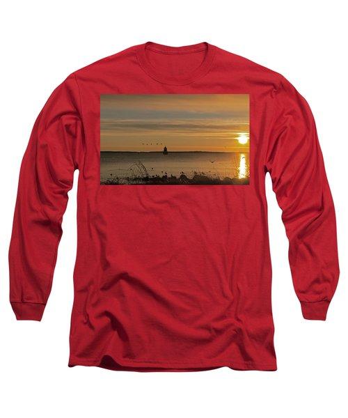 Sunrise Over New Bedford Long Sleeve T-Shirt