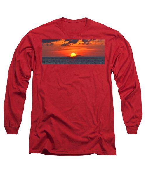 Sunrise Over Western Cuba Long Sleeve T-Shirt