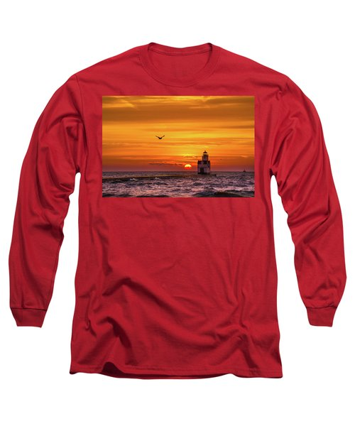 Long Sleeve T-Shirt featuring the photograph Sunrise Solo by Bill Pevlor