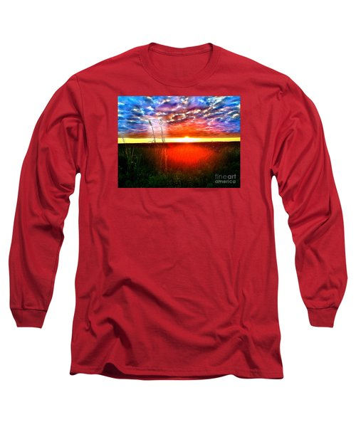 Sunset Long Sleeve T-Shirt by Amy Sorrell