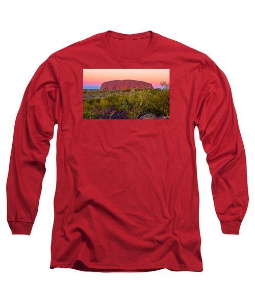 Sunset At Ayers Rock Long Sleeve T-Shirt