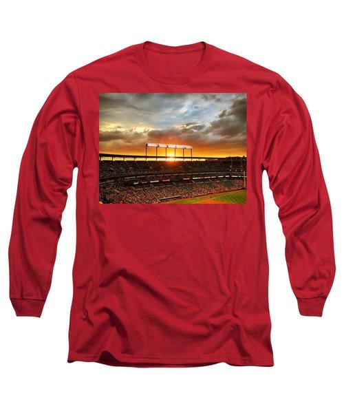 Sunset At Camden Yards Long Sleeve T-Shirt