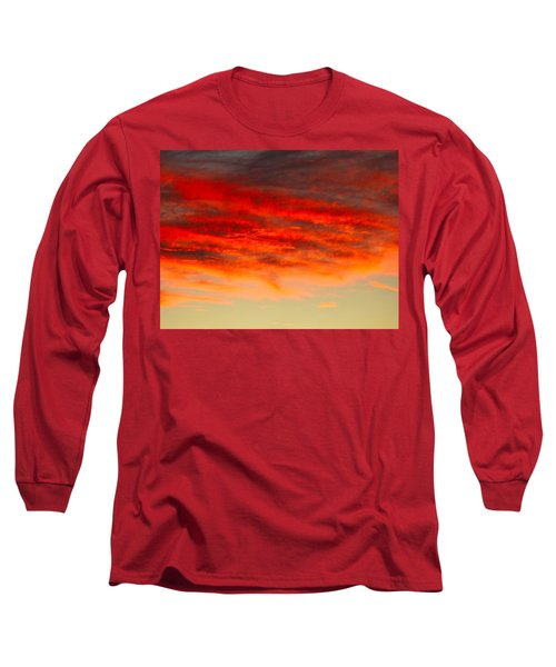Sunset At Eaton Rapids 4826 Long Sleeve T-Shirt