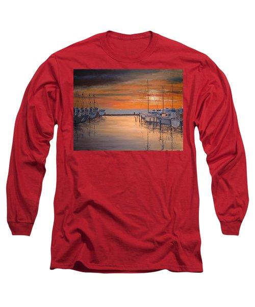 Sunset At Marina Long Sleeve T-Shirt