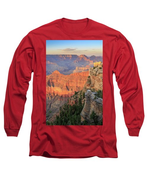 Sunset At Mather Point Long Sleeve T-Shirt by David Chandler