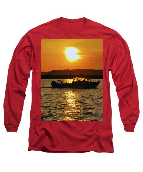 Sunset Boat Long Sleeve T-Shirt