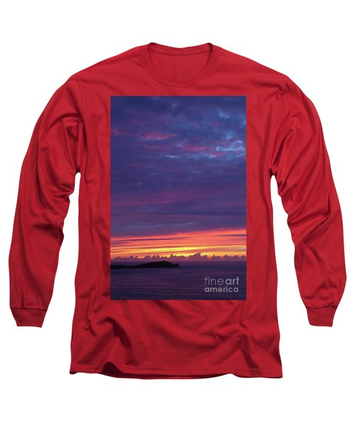 Long Sleeve T-Shirt featuring the photograph Sunset Clouds In Newquay, Uk by Nicholas Burningham