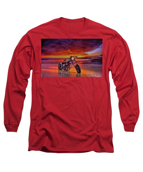 sunset Custom Chopper Long Sleeve T-Shirt